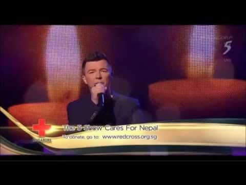 Rick Astley Cry For Help Channel 5 Singapore