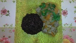 Приготовление чёрного риса ( IHerb.com ) и свинины с овощами