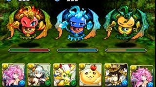 Puzzle and Dragons - Thursday Dungeon Mythical Cave of Dreaming Light Metatron Team /パズドラ EU