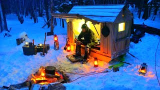 Snowmobile Camper with Off Grid Heater- Surviving the Night in -18C / 0F Temperature!