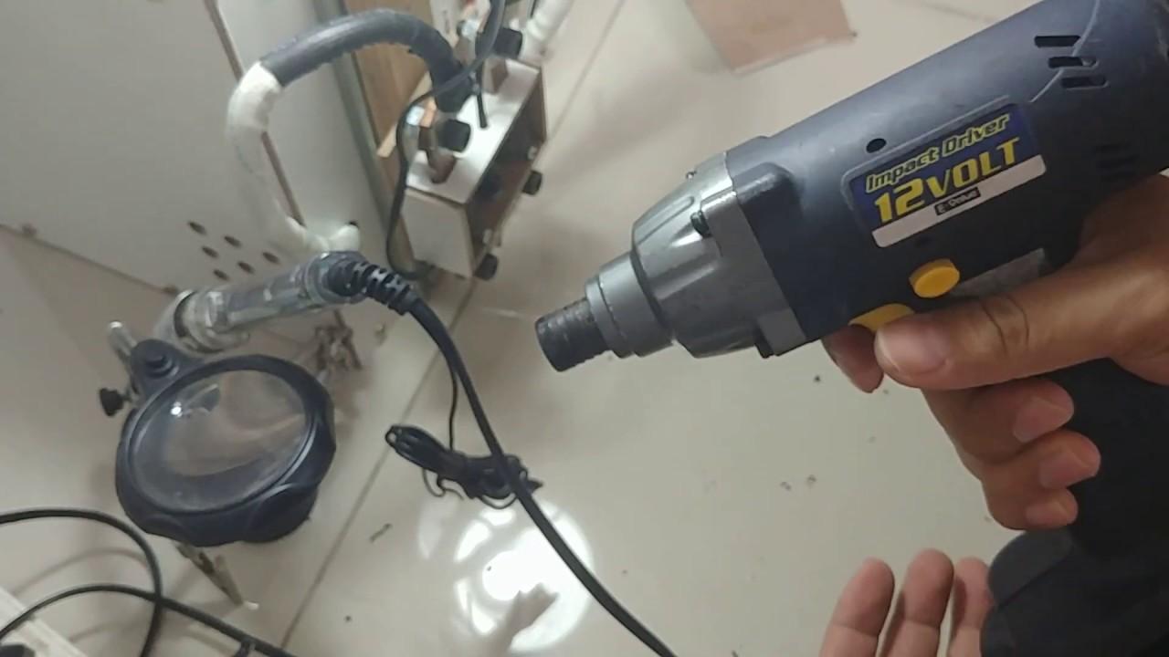 Độ pin máy bắt vít 12V   DIY Impact Driver Battery 12V - YouTube