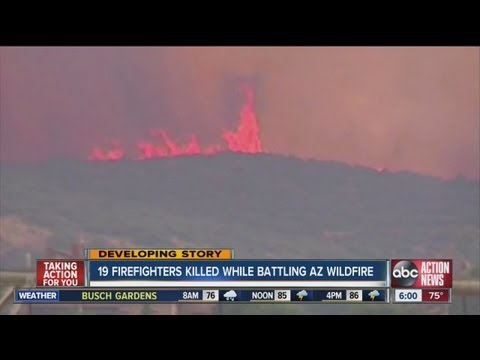 19 firefighters killed in Ariz. wildfire