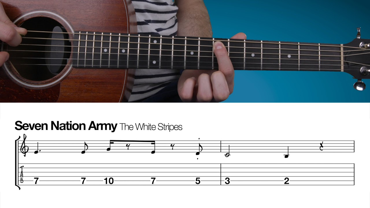 Seven Nation Army Beginners Guitar Lesson Youtube