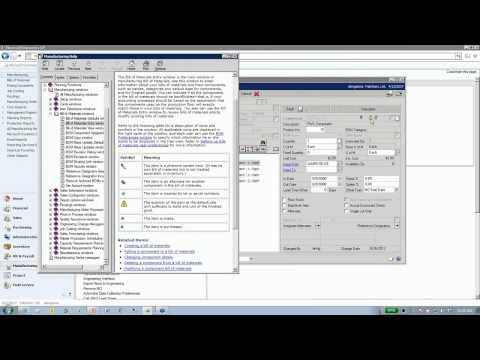 Microsoft Dynamics GP Manufacturing Series Part 1: Basic Concepts
