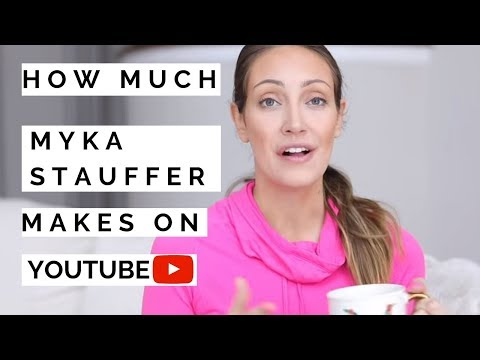 How much Myka Stauffer makes on Youtube