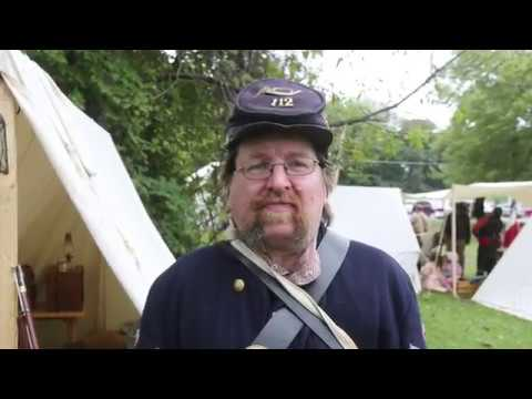 Civil War Reenactment in Oquawka, Illinois