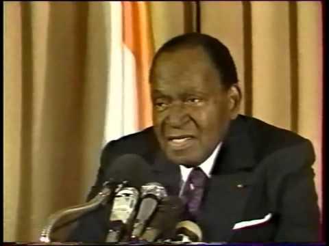 Felix Houphouet Boigny - MESSAGE A LA NATION le 06-12-1992