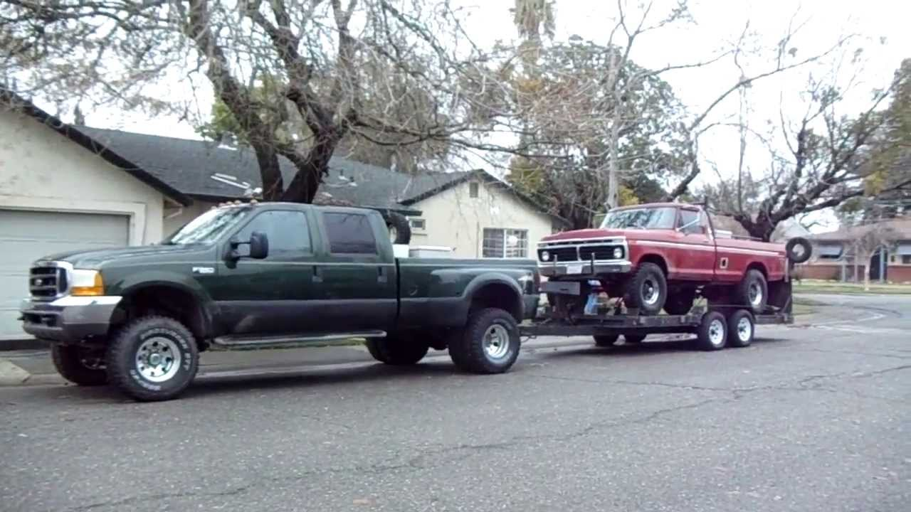 99 f350 dually & 73 f250 4x4 highboy after prairie city ...