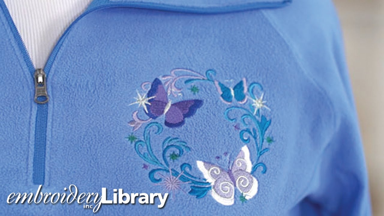 Embroidering on Fleece. Embroidery Library 177cb70e2
