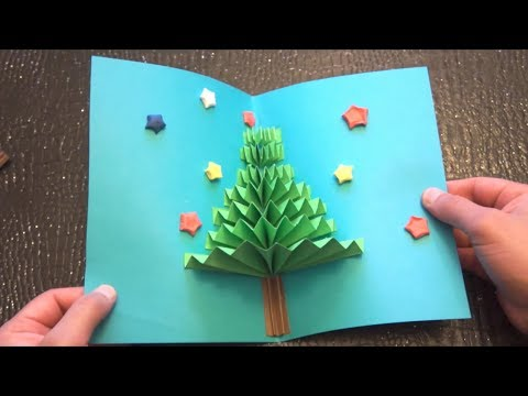 DIY 3D Christmas Pop Up Card Very Easy How To Make