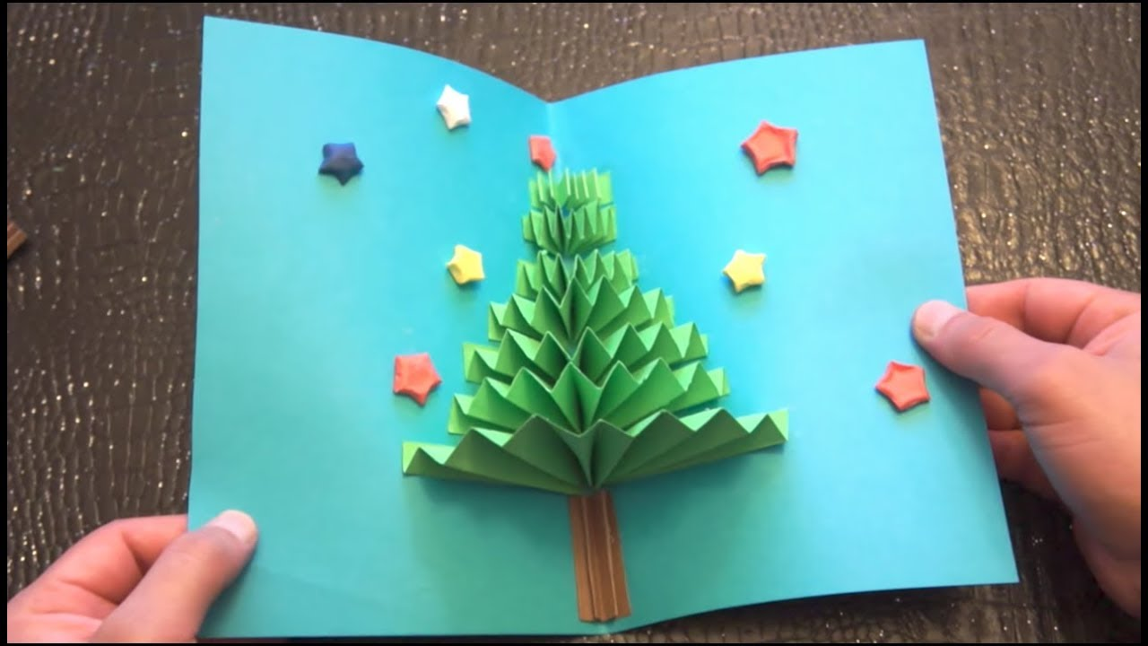 3d Card Making Ideas Part - 33: DIY 3D Christmas Pop Up Card | Very Easy | How To Make | TCraft