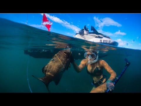 A Little SHARKY | Spearfishing SEA-DOO FISHPRO Style In The Florida Keys