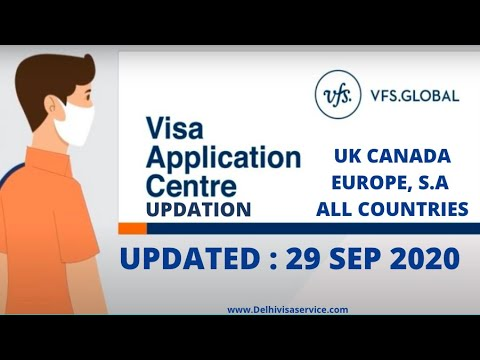 VFS Global India Latest Updates For 29-Sep-2020 | Latest News On VFS Opening For Visa Application