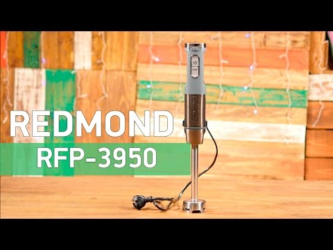 Redmond RFP-3950 - блендер мини-комбайн с широкими возможностями - Видео демонстрация