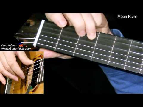 MOON RIVER: Easy Guitar Lesson + TAB + CHORDS by GuitarNick