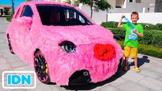 Mobil pink Vlad dan Nikita untuk anak perempuan