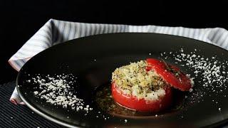 【レシピ】丸ごとトマトの焼きカプレーゼ風の作り方