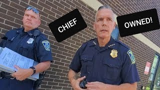 """I'M BEING TRESPASSED"" TOP COP OWNED! 1ST AMENDMENT AUDIT FAIL! Repost"