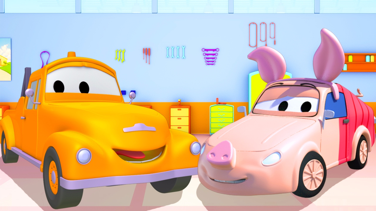 Tyler Car And Truck >> Tom the Tow Truck's Paint Shop: Tyler is Winnie the Pooh in Car City | Truck cartoons for kids ...