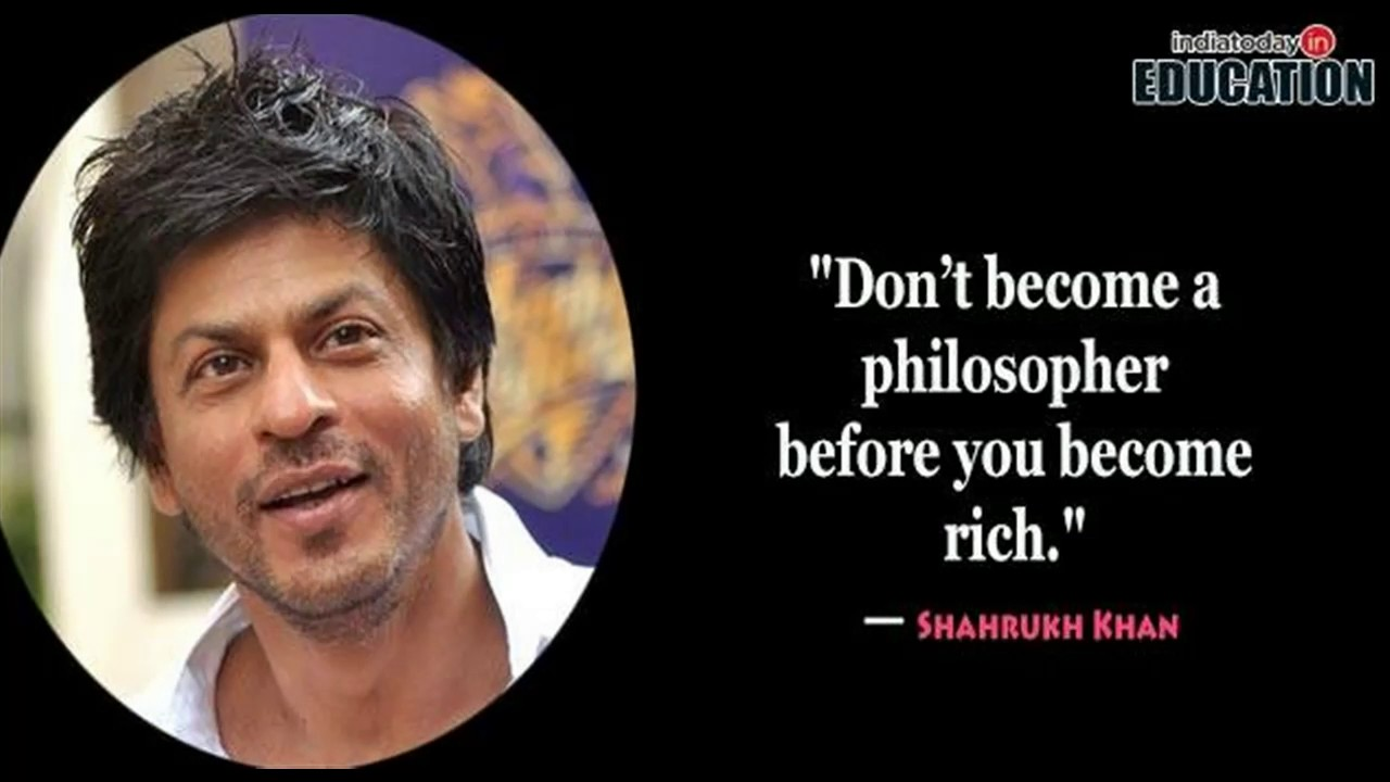 10 Motivational And Inspirational Quotes Of Shahrukh Khan Youtube