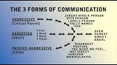 Assertiveness and the Four Communication Styles - YouTube