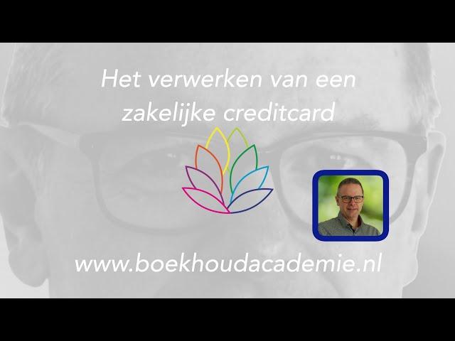 Verwerken van een zakelijk creditcard statement in Moneybird