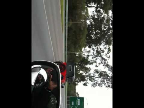 Passing a Vintage car in Brisbane