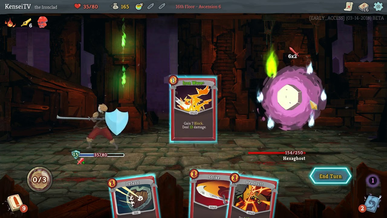 KenseiTV | Slay the Spire - Ascension 6 - Ironclad - Reaper