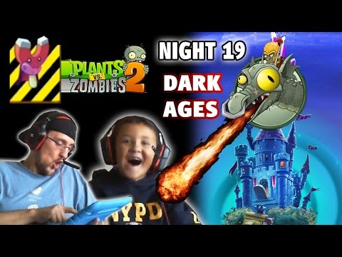 Lets Play PVZ 2: DARK AGES Night 19: Protect Endangered Magnet Shrooms W/ Zomboss Preview W/ Mike