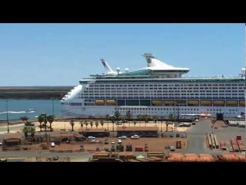 Voyager of the Seas from the Port Hedland Port Authority control tower