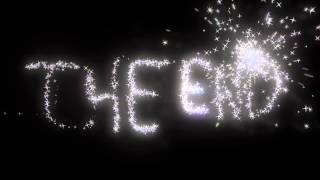 Glitter Stars THE END ANIMATION FREE FOOTAGE HD