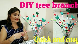 DIY tree branch,tree branch diy decore,easy decor ideas,anvesha,s creativity