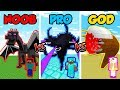 Minecraft NOOB vs. PRO vs. GOD: SUPER MOB BOSS BATTLE in Minecraft! (Animation)