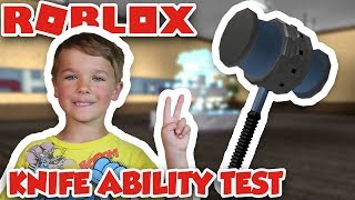 ROBLOX KNIFE ABILITY TEST | USING BAN HAMMER!