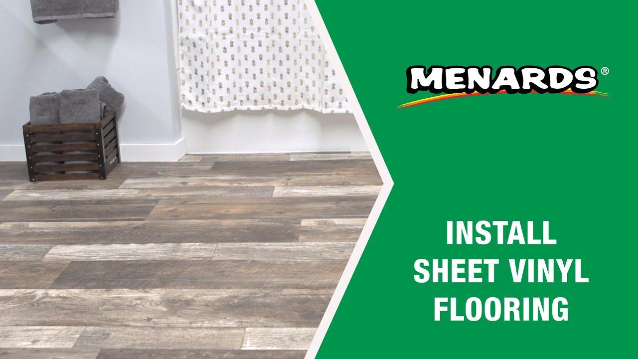 how to install sheet vinyl flooring menards
