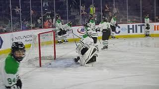 Markham Thunder goalie Erica Howe warms up 2/23/19