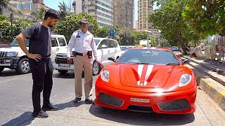 India Police pulled me over in a Ferrari ...