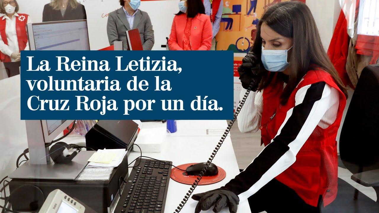 La Reina Letizia, voluntaria de la Cruz Roja por un día