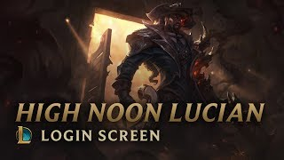 High Noon Lucian | Login Screen - League of Legends