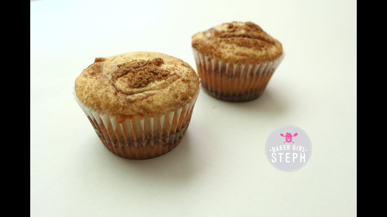 HOW TO MAKE CINNAMON ROLL CUPCAKES || BakerGirlSteph