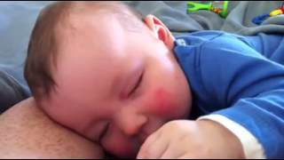 Funny Baby Laughing in His Sleep is Probably Dreaming of Jesus