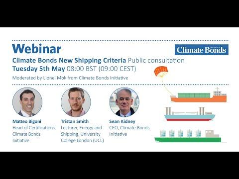 Climate Bonds Shipping Criteria Public Consultation