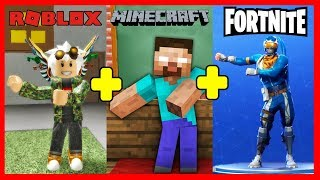 THE PERFECT GAME 💥 Roblox + Minecraft + Fortnite
