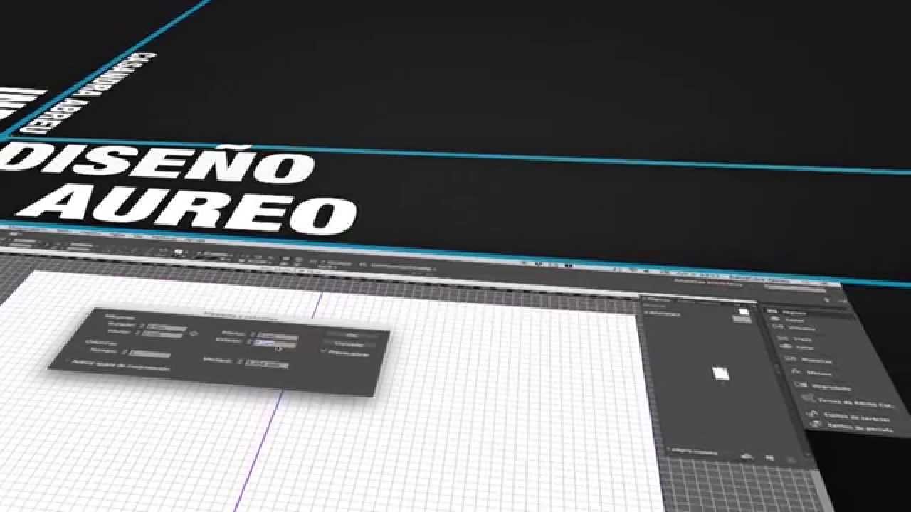 Diseño Aureo en Adobe InDesign - YouTube
