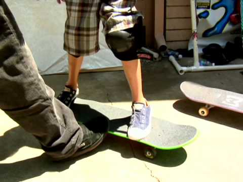 Max Burkholder's first time on a skateboard!