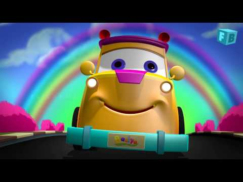 The Wheels On The Bus Go Round And Round | Flickbox Nursery Rhymes | Children Songs | 3D