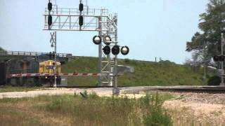 (HD) CSX Railfanning: Waycross, Georgia June 13, 2011 Part 2
