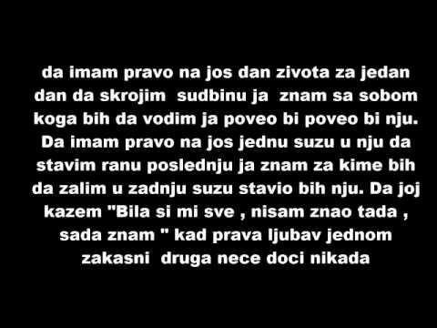 Sasa Matic-kad ljubav zakasni (text)