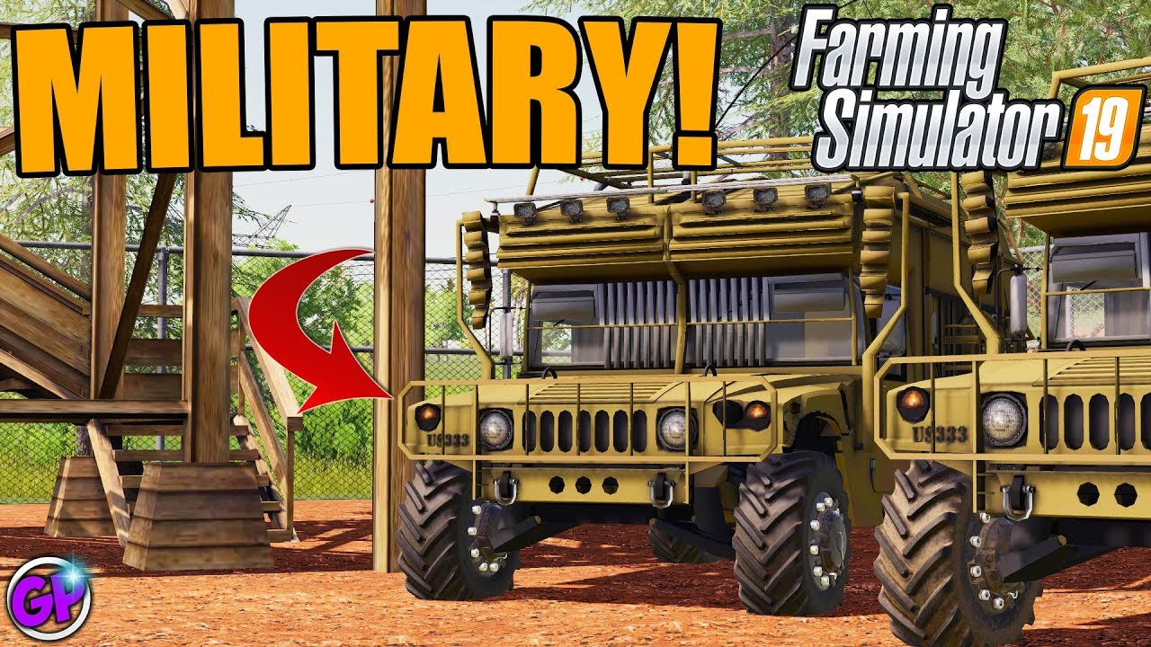UPGRADING OUR MILITARY BASE IN FARMING SIMULATOR 19   MILITARY MODS FS19  MULTIPLAYER LAMBO MODS