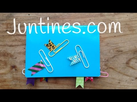 Decora tus cuadernos con Washi tape